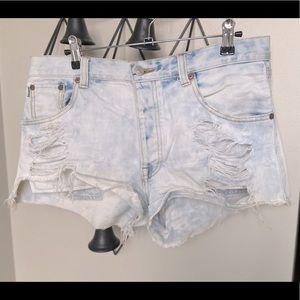 TALULA | Distressed Denim Shorts